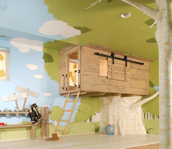 Casa en árbol dentro de dormitorio