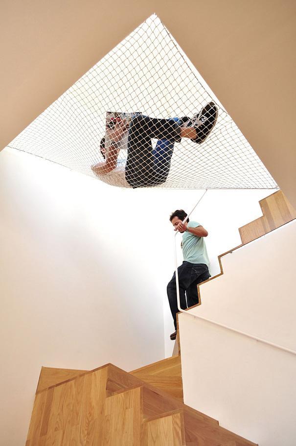 Hamaca sobre escaleras